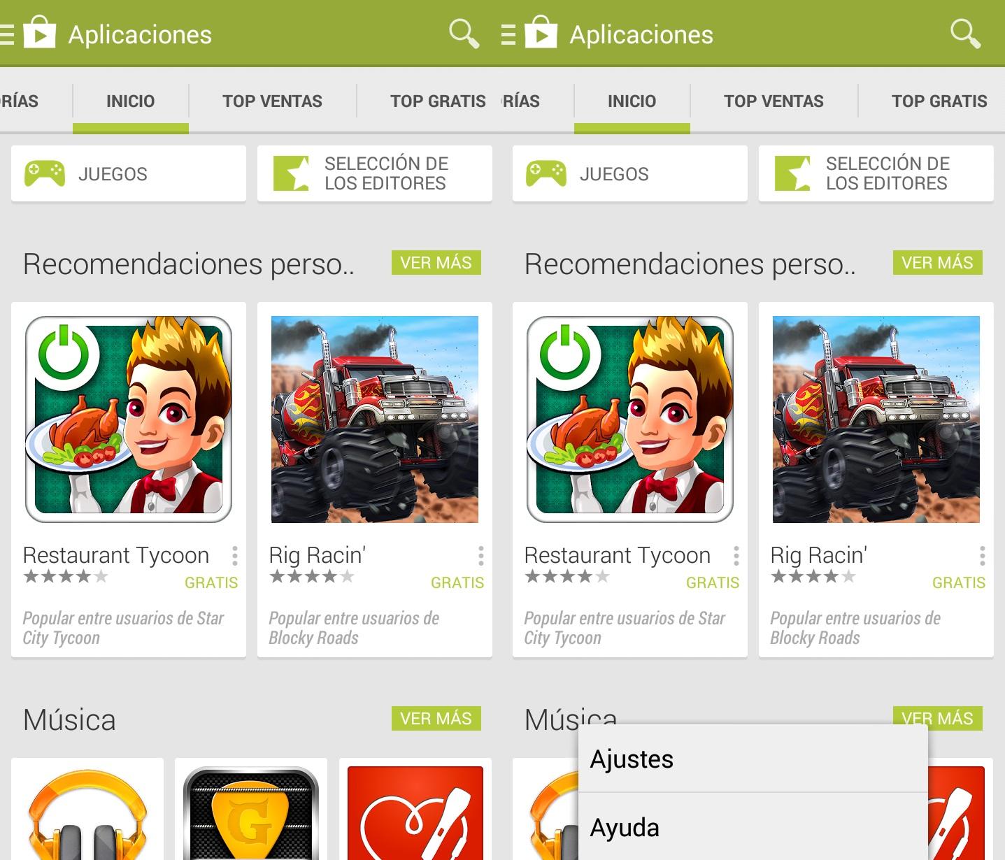 Desactivar actualizaciones automáticas Google Play