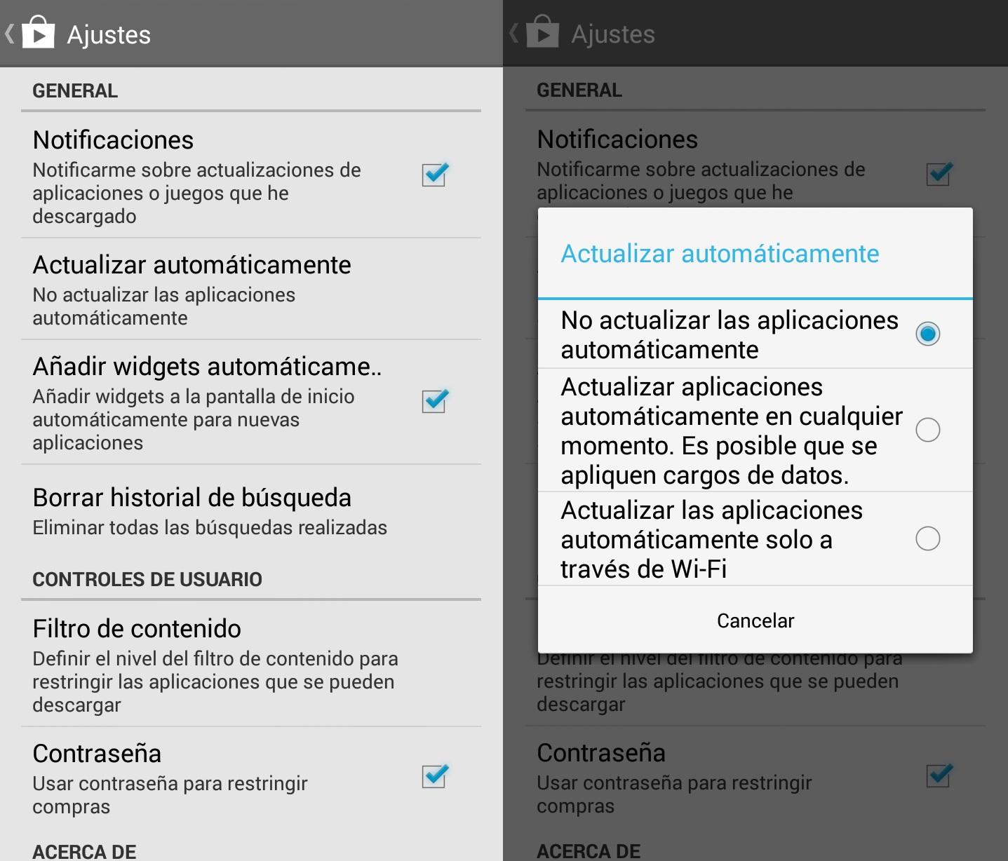 Desactivar actualizaciones automáticas Google Play Paso Final