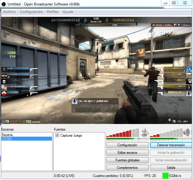 Streaming Open Broadcaster Software