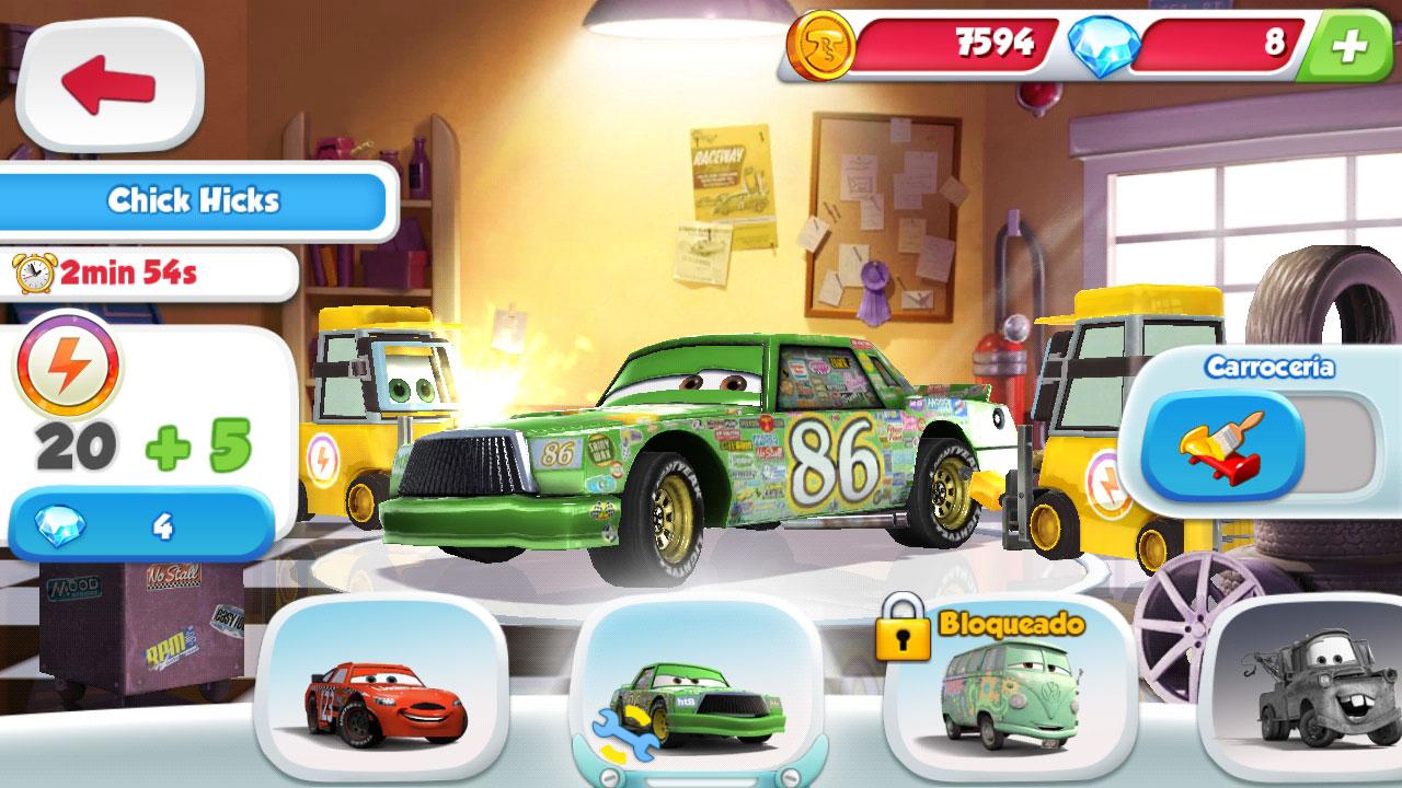 Mejoras-Cars-Juego-Gameloft