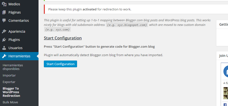 Blogger to WordPress Redirection