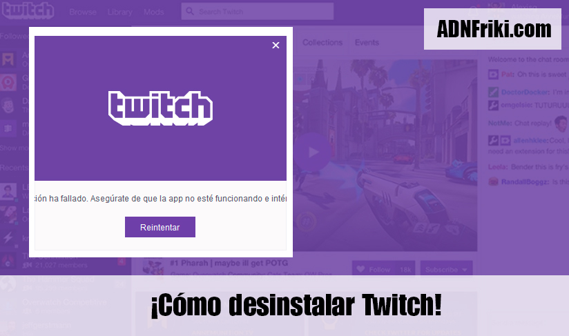 Cómo desinstalar Twitch (Windows) | ADNFriki